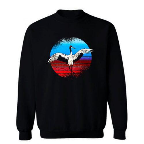 Retro Crane Sweatshirt