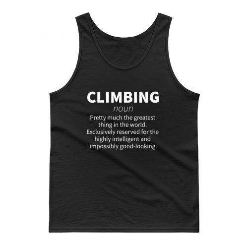 Rock Climbing Definition Tank Top