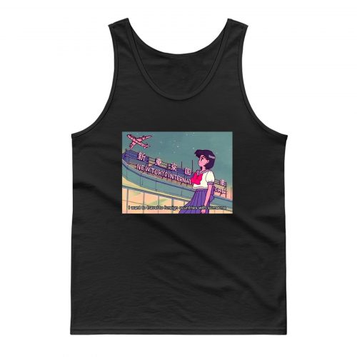 Sailor Moon I Want To Travel Tank Top