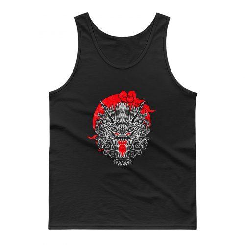 Samurai Dragons Head Tank Top