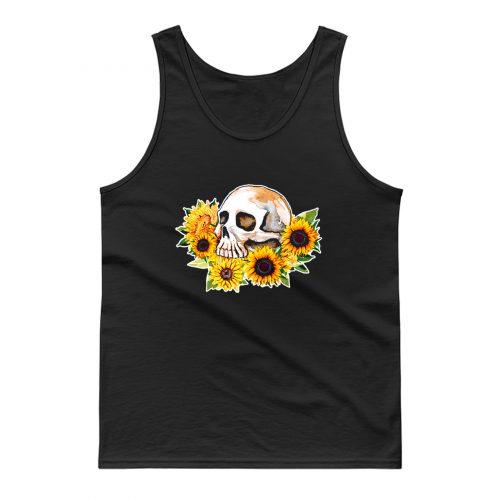 Skull Sunflower Tank Top