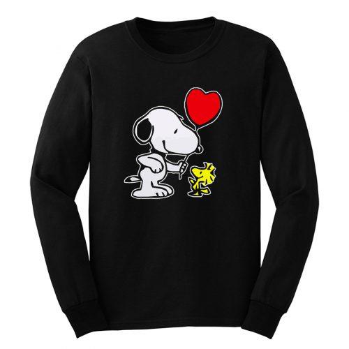 Snoopy Woodstock Heart Balloon Cartoon Long Sleeve
