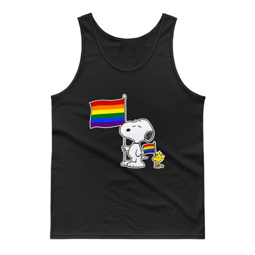 Snoopy Woodstock Pride Lgbt Flag Holiday Tank Top