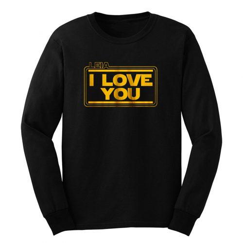 Star Wars Leia Solo I Love You Long Sleeve