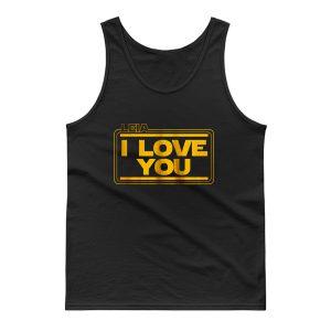 Star Wars Leia Solo I Love You Tank Top