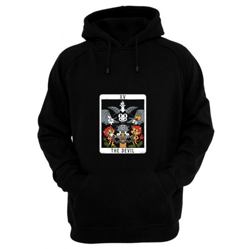 The Devil Xv Tarot Card Baphomet Hoodie