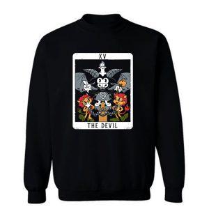 The Devil Xv Tarot Card Baphomet Sweatshirt