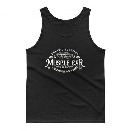 Torettos Muscle Car Garage Repairs Tank Top
