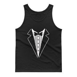 Tuxedo Fancy Dress Tank Top