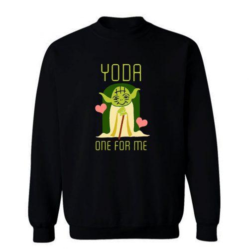 Valentines Day Star Wars Yoda One For Me Cute Sweatshirt