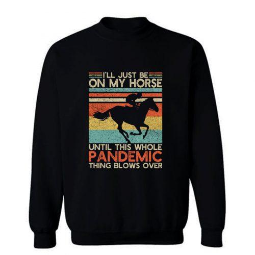 Vintage Jockey Horse Sweatshirt