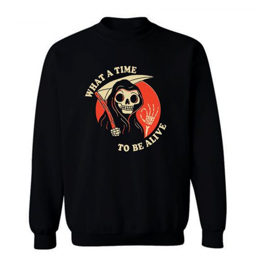 What A Time To Be Alive Sweatshirt