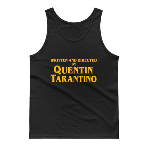 Written And Directed By Quentin Tarantino Long Sleeve Tank Top