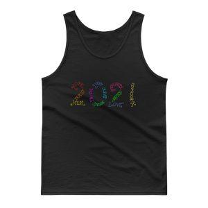 Year 2021 Rainbow Inspirational Words Tank Top