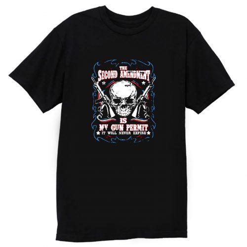 Amendment Is My Gun Permit T Shirt