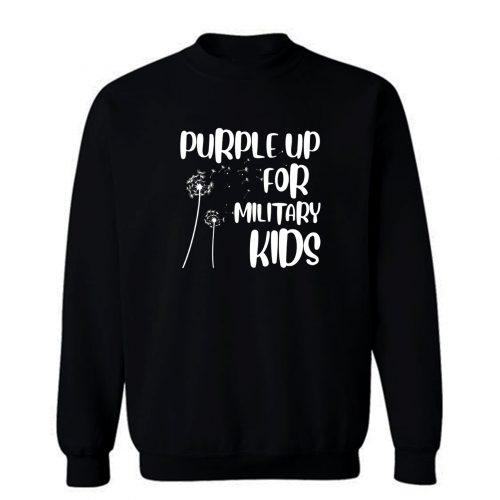 Andelion Purple Up For Military Kids Funny Gift For Children Sweatshirt
