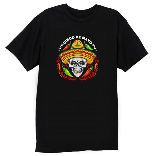 Cinco De Mayo Mexican Skull With Hat T Shirt