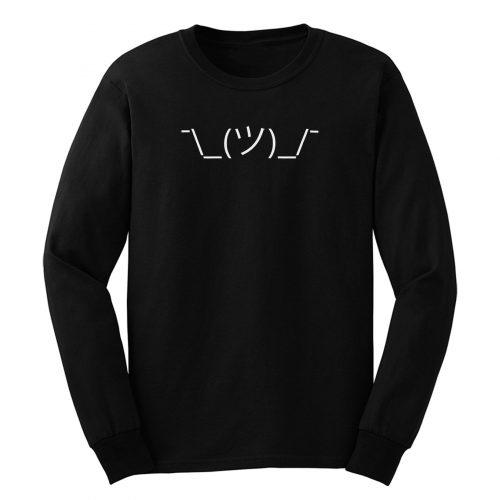 Emoji Emoticon Shrug Long Sleeve
