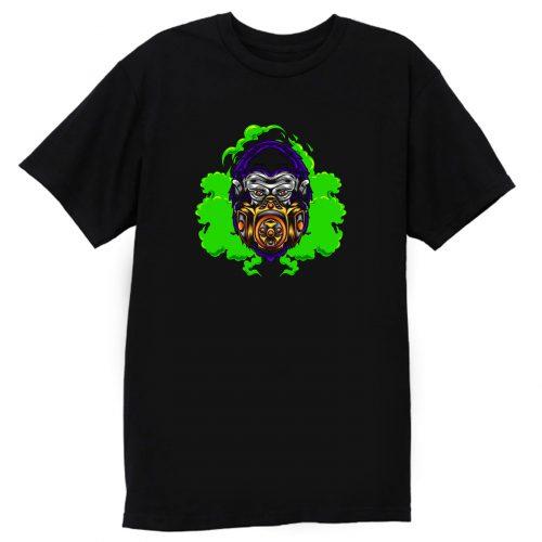 Gorilla With Gas Mask Illustration T Shirt