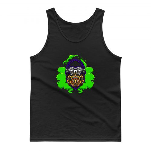 Gorilla With Gas Mask Illustration Tank Top