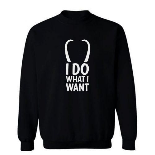 I Do What I Want T Sweatshirt