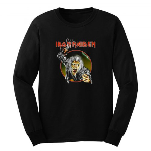 Iron Maiden Eddie Metal Hook Band Long Sleeve