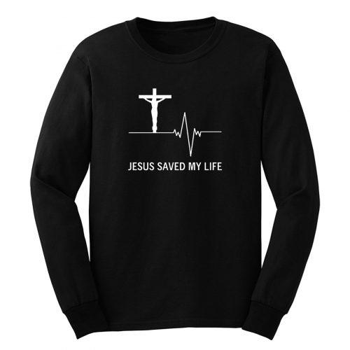 Jesus Saved My Life Hoodie Christian Religion Faith God Long Sleeve