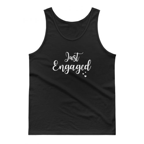 Just Married Engaged Tank Top