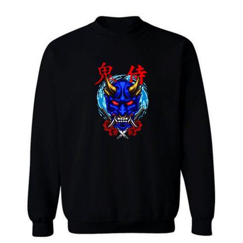 Oni Mask Illustration 02 Sweatshirt