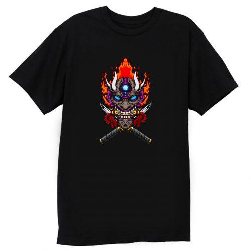 Oni Mask Illustration T Shirt