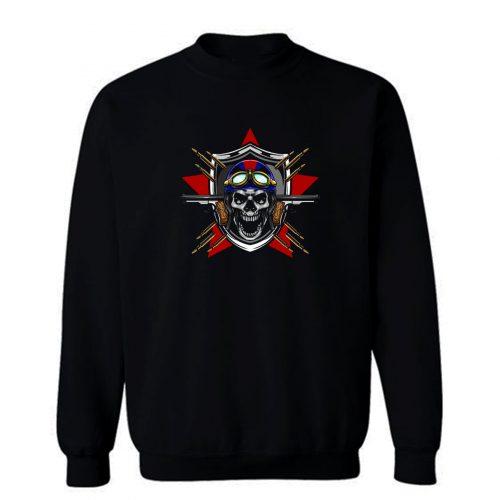Skull Pilot Sweatshirt