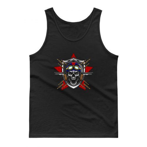 Skull Pilot Tank Top
