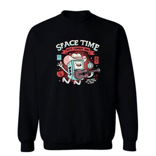 Space Time Cool Robot Cowboy Sweatshirt