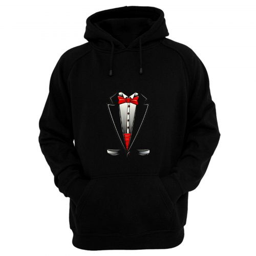 Tuxedo Bow Tie Youth Hoodie