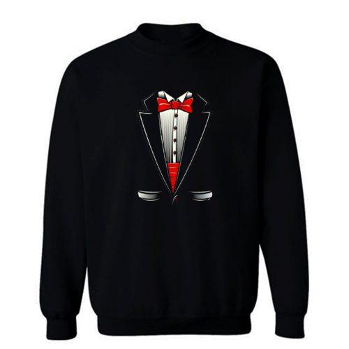 Tuxedo Bow Tie Youth Sweatshirt