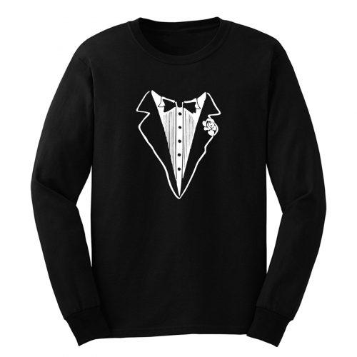 Tuxedo Funny Youth Long Sleeve