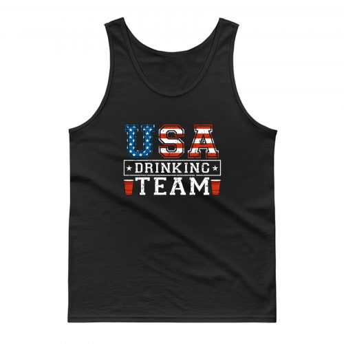 Usa Drinking Team Funny Usa 4th Of July Tank Top
