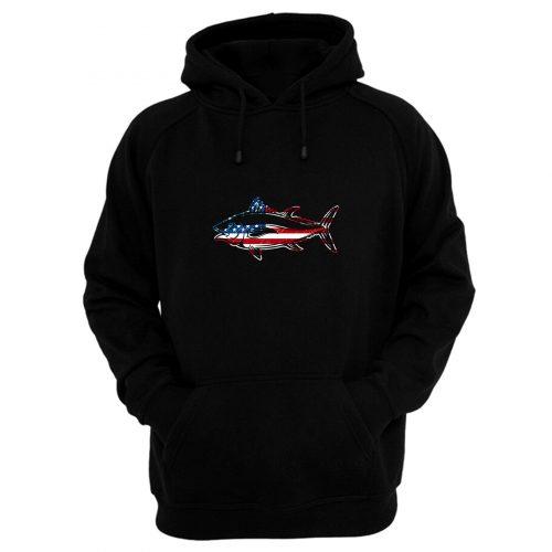 American Flag Usa Fishing Fish Lover Hoodie