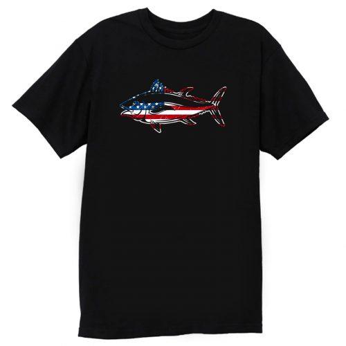 American Flag Usa Fishing Fish Lover T Shirt