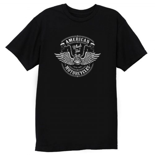 American Wheels Of Fire Motorcycle T Shirt