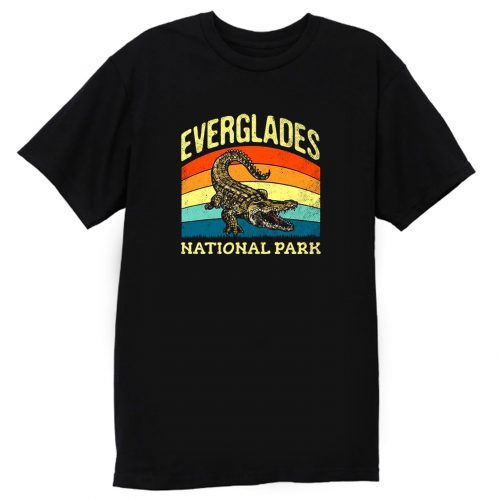 Everglades National Park Us Crocodile Vintage T Shirt
