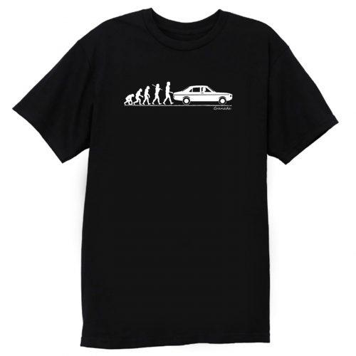Evolution Of Man Ford Granada Classic Car T Shirt
