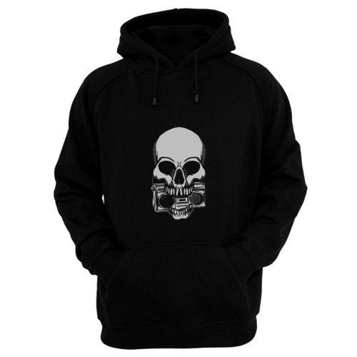 Ghetto Blaster Skull Hoodie
