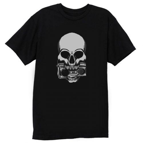 Ghetto Blaster Skull T Shirt