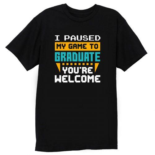 Graduated Gaming Graduation Funny Gamer T Shirt