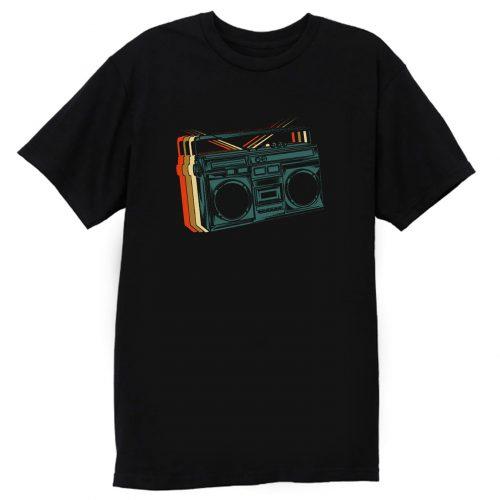 Retro Ghetto Blaster Vinteg Boombox T Shirt