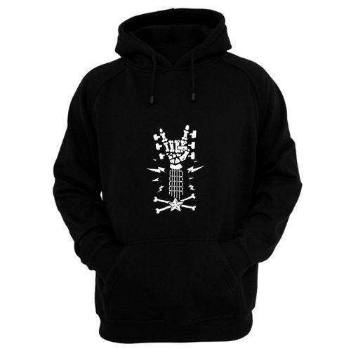 Rock Roll Skeleton Guitar Cool Hoodie