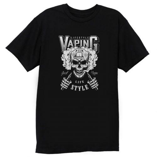 Vaping Skull Cap T Shirt