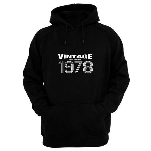 Vintage 100 Original Birthday Hoodie